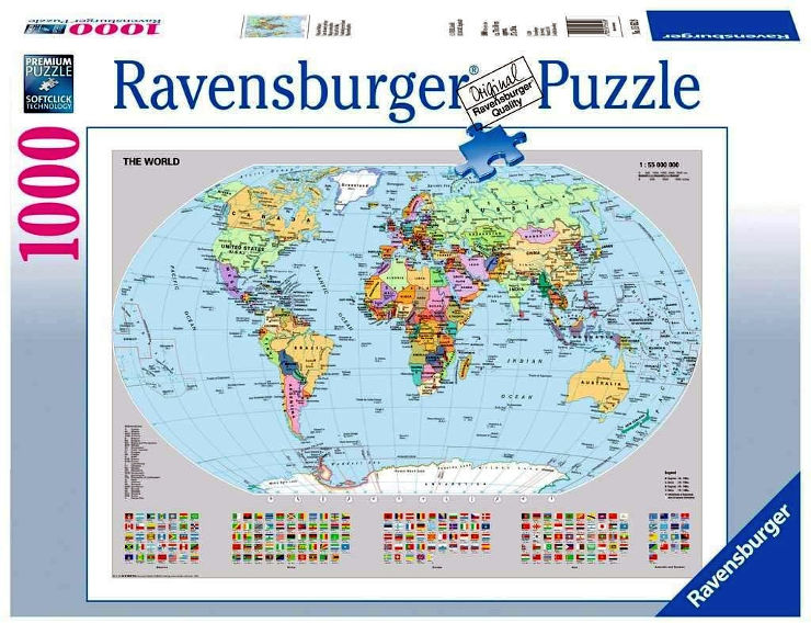פאזל מפת עולם פוליטית 15652
