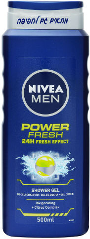 POWER FRESH ג'ל רחצה לגבר