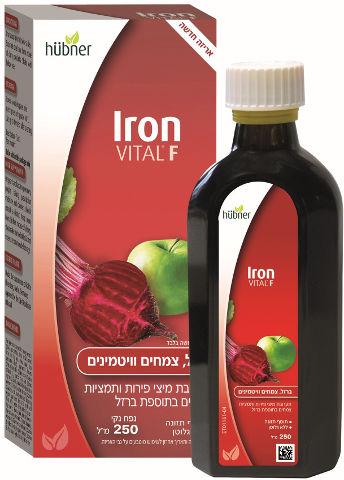 תערובת מיצי פירות ותמציות צמחים בתוספת ברזל