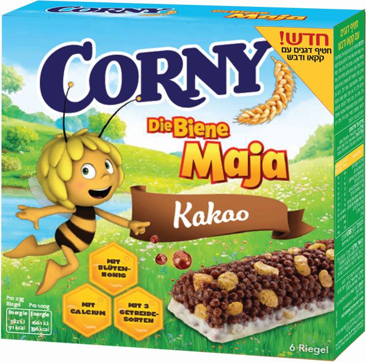 קורני חטיף דגנים עם קקאו ודבש הדבורה מאיה