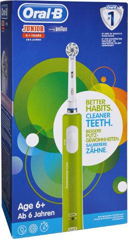 בראון JUNIOR מברשת שיניים חשמלית לגילאי 6+ צבע ירוק