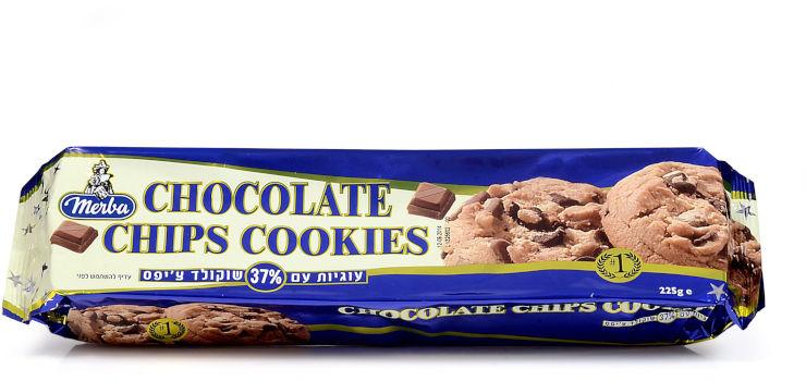 עוגיות שוקולד ציפס 225 גרם