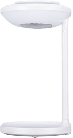 רמקול מראת איפור עם טעינה אלחוטית ותאורה LED