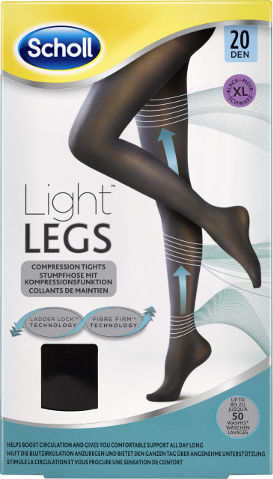 גרביונים 20 דנייר LIGHT LEGS צבע שחור XL