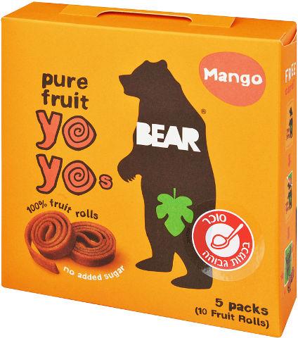 חטיף 100% פרי שילדים אוהבים בטעם מנגו