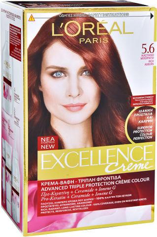 צבע שיער קבוע לטיפוח עשיר בגוון 5.6 חום אדמוני