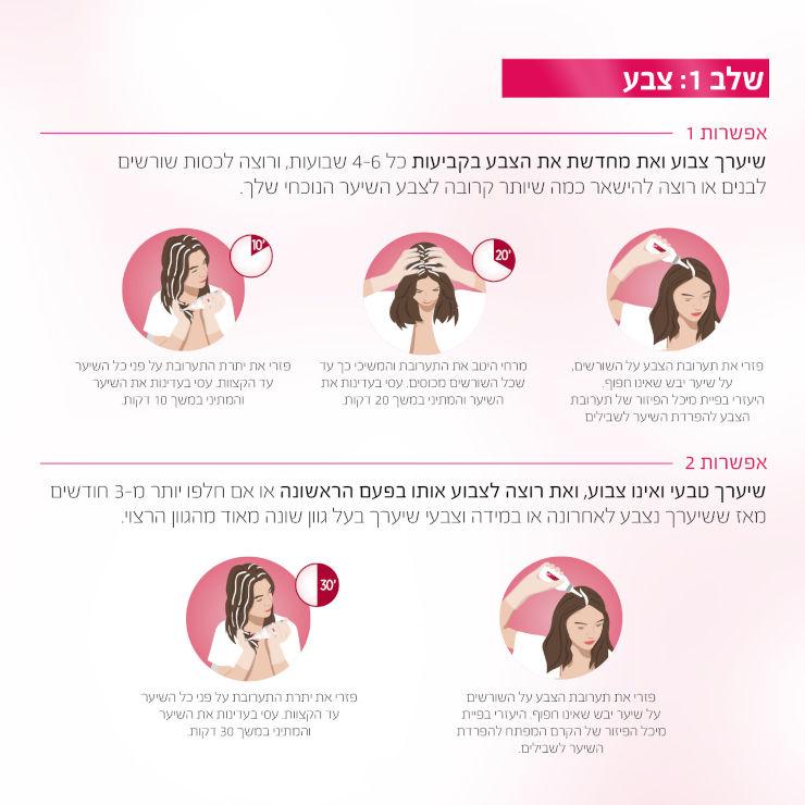 צבע שיער קבוע לטיפוח עשיר בגוון 7.3 בלונד זהוב