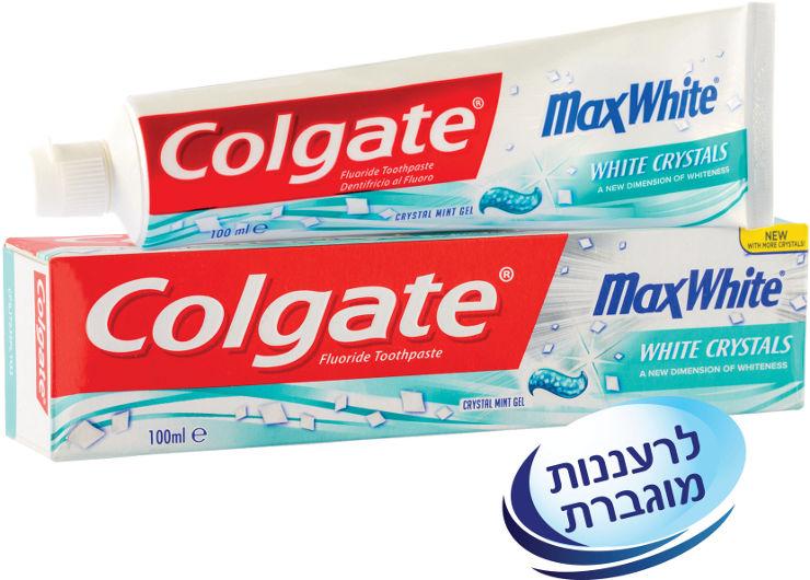 מקס וייט משחת שיניים לנשימה רעננה עם קריסטלים לבנים