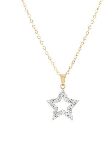 שרשרת כוכב עשויה מכסף בציפוי זהב ומשובצת