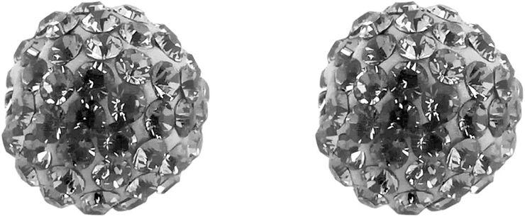 עגילי כדור משובצים קריסטלים