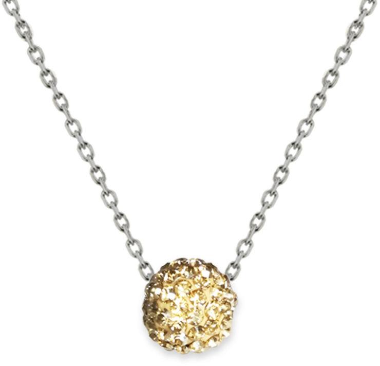 שרשרת פאווה קריסטל עשויה מכסף בציפוי זהב ומשובצת