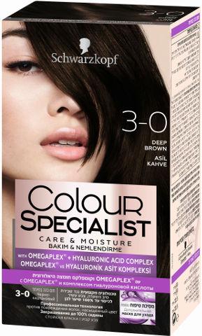 שוורצקופף קרם צבע שיער 3-0 חום כהה במיוחד