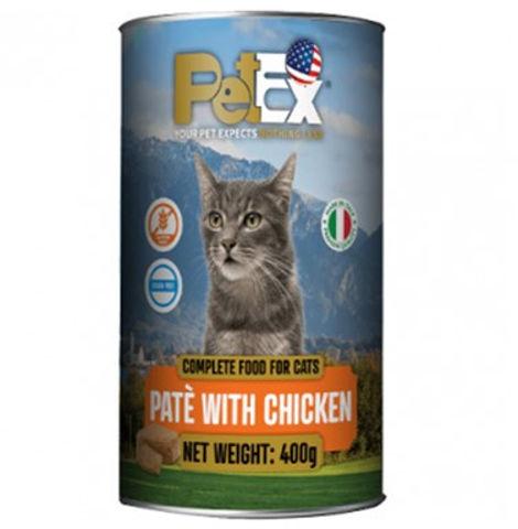 שימורי מזון מלא לחתולים במרקם פטה עם בשר עוף ללא דגנים וללא גלוטן