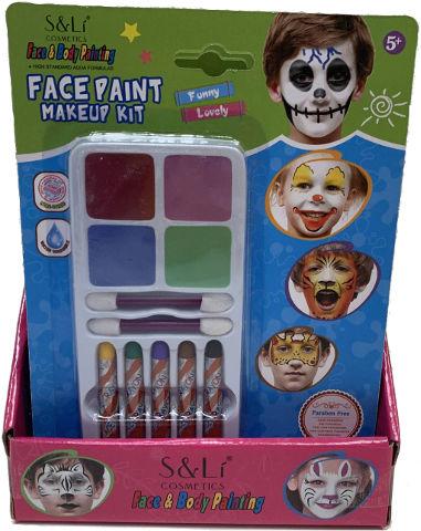 צבעי פנים + עפרונות צבע