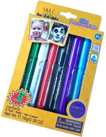 מארז עפרונות איפור לפנים לגוף ולשיער