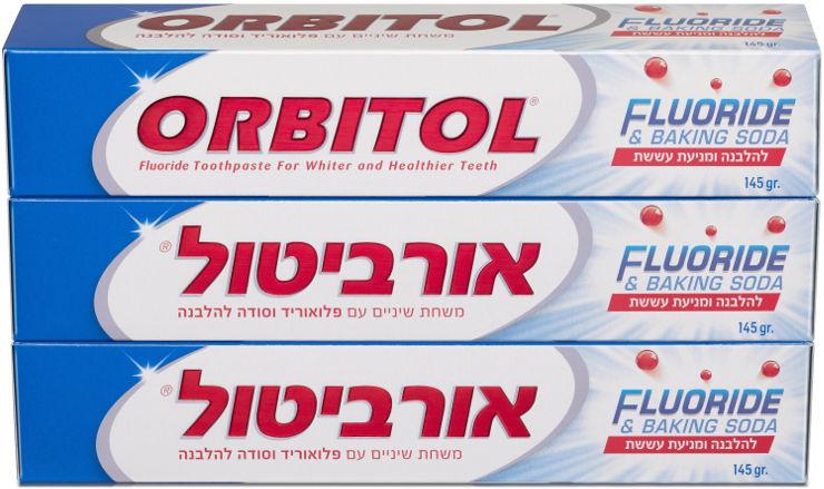 משחת שיניים עם פלואוריד וסודה להלבנה