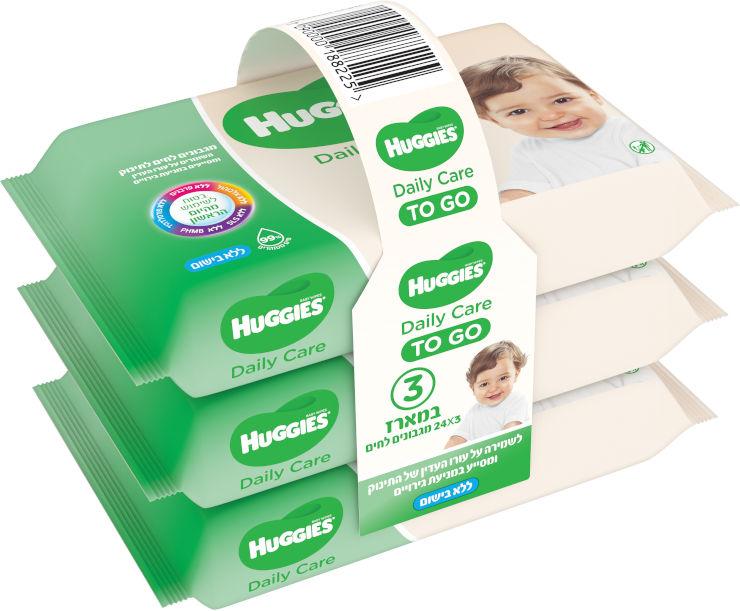 מגבונים לחים לתינוק TO GO אלוורה לעור רגיש ללא בישום