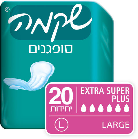 סופגנים EXTRA SUPER PLUS מידה LARGE