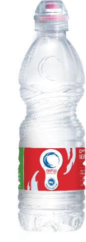 מים מינרלים עם פקק נוח לשתיה