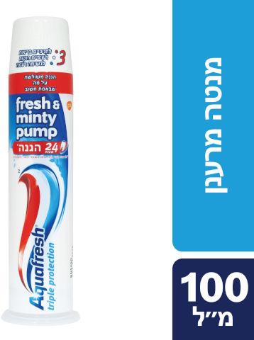 משחת שיניים משאבה מנטה