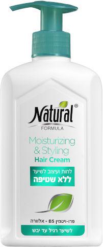לחות ועיצוב לשיער ללא שטיפה לשיער רגיל עד יבש