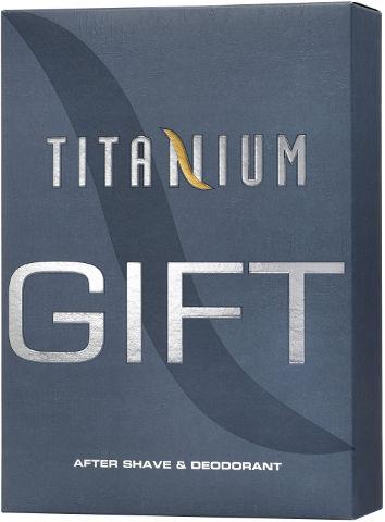 TITANIUM סט אפטר שייב + דאודורנט ספריי לגבר