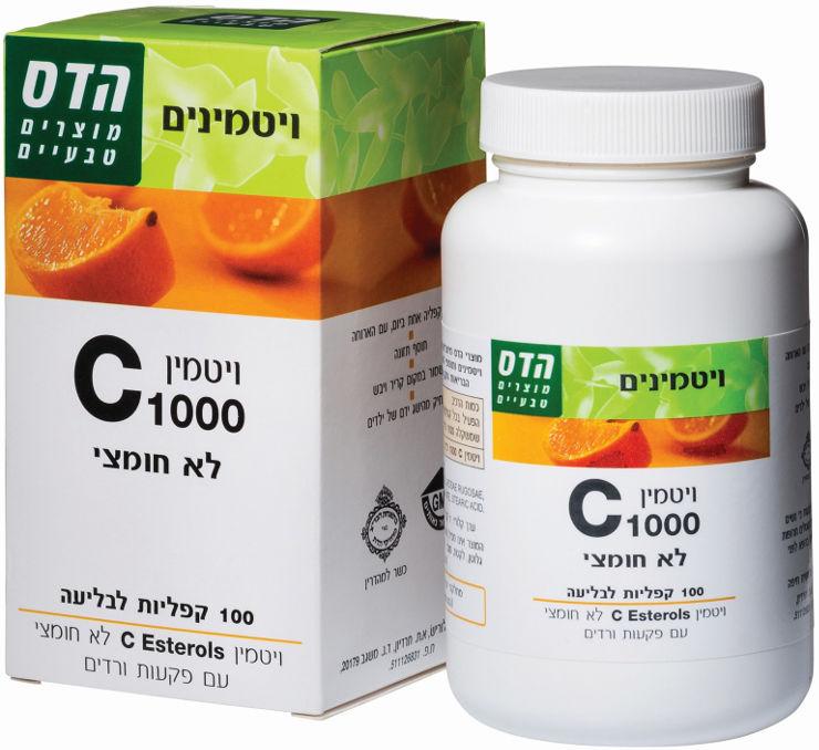 ויטמין C לא חומצי עם פקעות ורדים