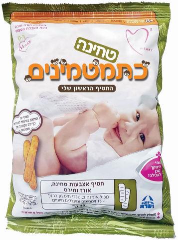 חטיף אצבעות טחינה (50%) אורז ותירס, מגיל 6 חודשים