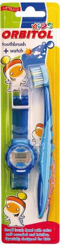 מברשת שיניים לילדים+שעון