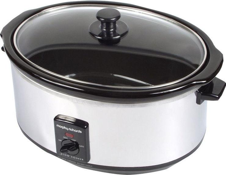 סיר בישול איטי 8 ליטר נירוסטה דגם 48735