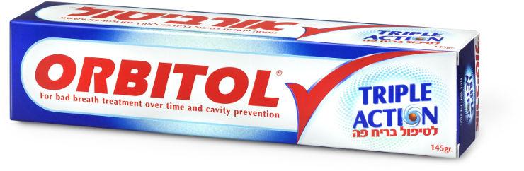 טריפל אקשן משחת שיניים לטיפול בריח פה