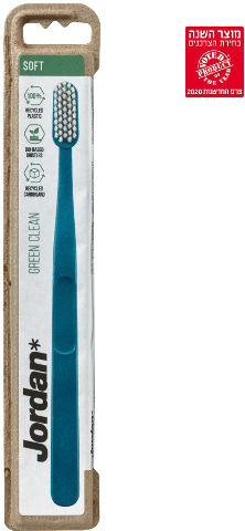 מברשת שיניים רכה למבוגרים GREEN CLEAN סופט צבע כחול