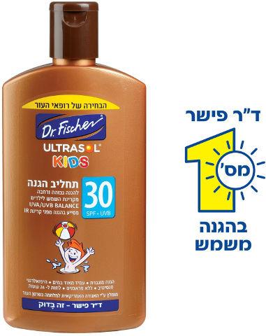 תחליב הגנה לילדים 30SPF