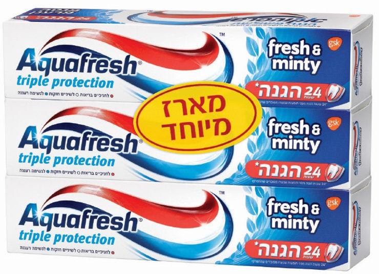 משחת שיניים מנטה-כחול