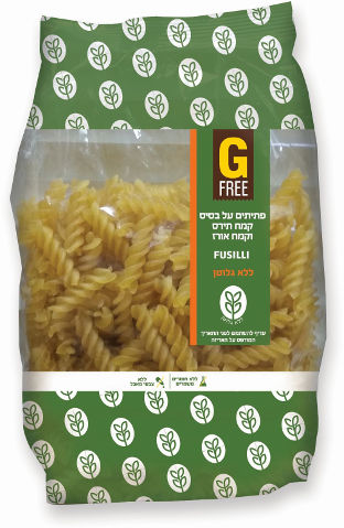 פתיתים פוזילי על בסיס קמח תירס וקמח אורז ללא גלוטן