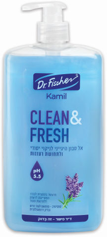 אל סבון לניקוי ולתחושת רעננות. מועשר בתמצית לבנדר