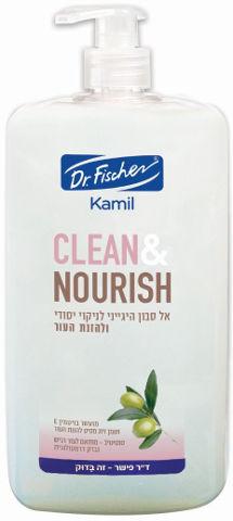אל סבון לניקוי ולהזנת העור. מועשר בויטמין E ושמן זית