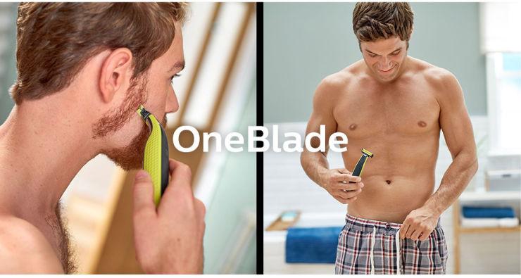 ONE BLADE, מכשיר לעיצוב זיפים וגילוח לפנים ולגוף 60 דקות פעולה