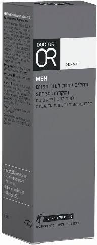 MEN תחליב לחות לעור הפנים והקרחת SPF30