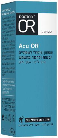 ACU-OR שפתון טיפולי לשפתיים יבשות ולהגנה מהשמש SPF50+
