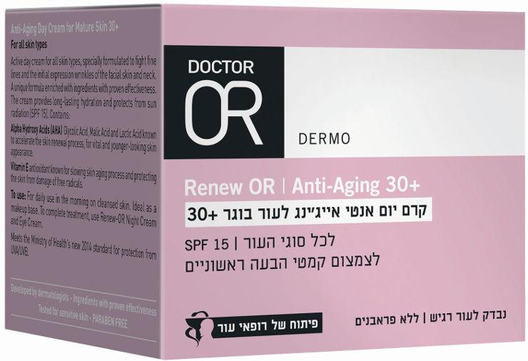 RENEW-OR קרם יום אנטי אייג'ינג לעור בוגר +30   SPF15