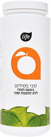 סיבי פסיליום בטעם תפוז ללא תוספת סוכר