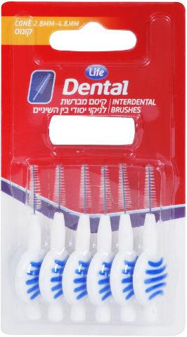 Dental קיסם מברשת לניקוי יסודי בין השיניים קונוס
