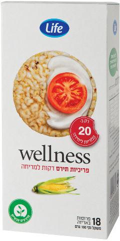 Wellness פריכיות תירס דקות למריחה