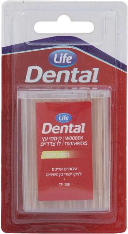 Dental קיסמי עץ דו צדדיים בטעם מנטה