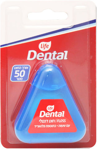 Dental חוט דנטלי עם שעווה בתוספת פלואוריד