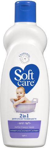 2in1 אל סבון ושמפו אל דמע עדין לתינוק לעור רגיש