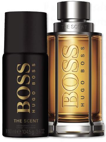 תוספת HUGO BOSS - THE SCENT מארז א.ד.ט + דאודורנט ספריי לגבר | סופר-פארם SQ-03