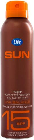 SUN שמן גזר SPF15