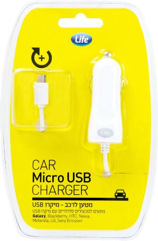 מטען מיקרו USB לרכב